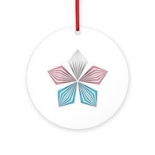 Transgender Pride Starburst Round Ornament