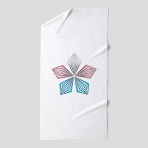 Transgender Pride Starburst Beach Towel