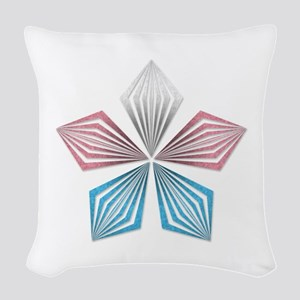 Transgender Pride Starburst Woven Throw Pillow
