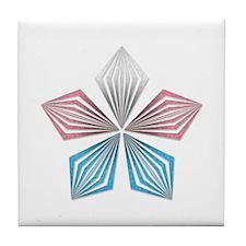 Transgender Pride Starburst Tile Coaster