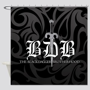 Bdb Black Shower Curtain