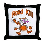 Road Kill Cafe Throw Pillow