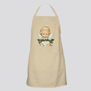 Cute Christmas Baby Angel And Holly Apron