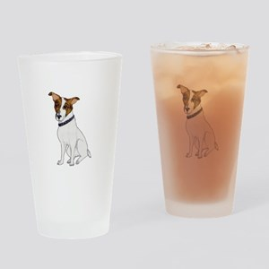 Jack Rusell Terrier Watercolor Drinking Glass