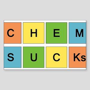 Chemistry Sucks Periodic Element Design Sticker