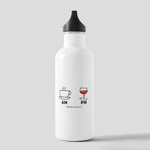 COFFEE AM WINE PM Water Bottle