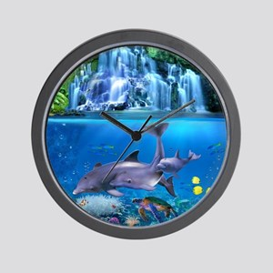 The Dolphin Family Wall Clock