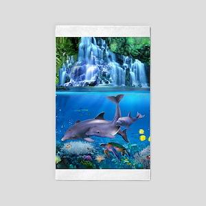 The Dolphin Family Area Rug