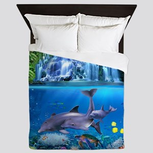 The Dolphin Family Queen Duvet