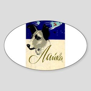 Laika Dog Cosmonaut USSR Space Vintage Ret Sticker