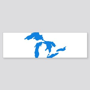 Great Lakes Usa Amerikan Big Water Bumper Sticker