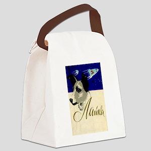 Laika Dog Cosmonaut USSR Space Vi Canvas Lunch Bag