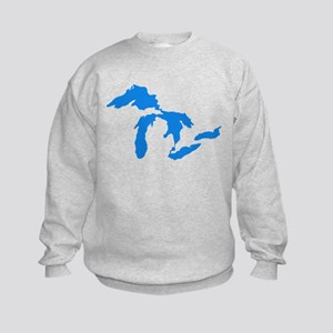 Great Lakes Usa Amerikan Big Water Kids Sweatshirt