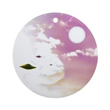 Open Skies Ufo (pleiadian Soul) Round Ornament