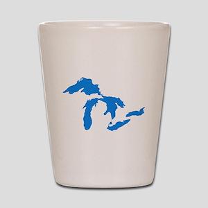Great Lakes Usa Amerikan Big Water Reso Shot Glass