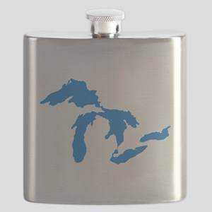 Great Lakes Usa Amerikan Big Water Resources Flask