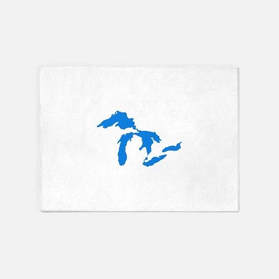 Great Lakes Usa Amerikan Big Water 5'x7'Area Rug