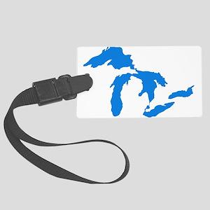 Great Lakes Usa Amerikan Big Wat Large Luggage Tag