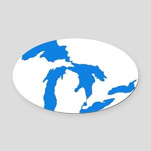 Great Lakes Usa Amerikan Big Water Oval Car Magnet