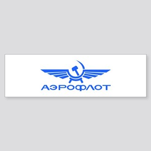 Aeroflot Russian Airlines Flights Bumper Sticker