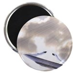 Silver Disc Ufo (pleiadian Soul) Round Magnets