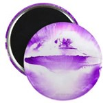 Purple Rays Ufo (pleiadian Soul) Round Magnets