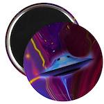 Magenta Ufo (pleiadian Soul) Round Magnet Magnets