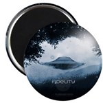 Fidelity Ufo (pleiadian Soul) Round Magnet Magnets