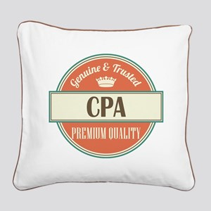 cpa vintage logo Square Canvas Pillow