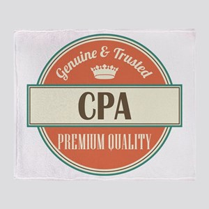 cpa vintage logo Throw Blanket
