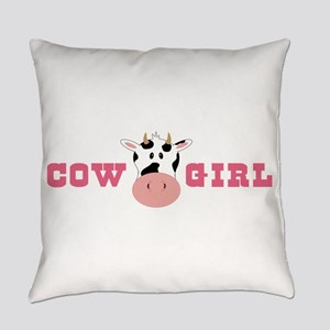 Cow Girl Everyday Pillow