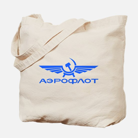 Aeroflot Russian Airlines Flights Tote Bag
