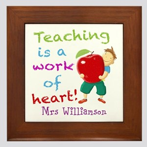 Inspirational Teacher Quote Framed Tile