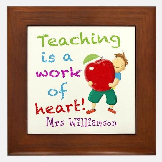 Inspirational Teacher Quote Framed Tile