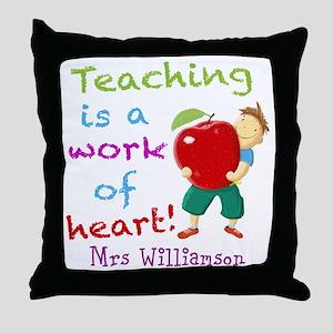 Inspirational Teacher Quote Throw Pillow