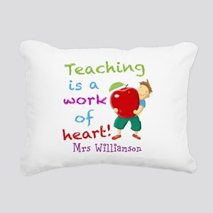 Inspirational Teacher Quote Rectangular Canvas Pil