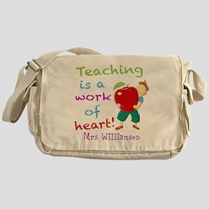 Inspirational Teacher Quote Messenger Bag