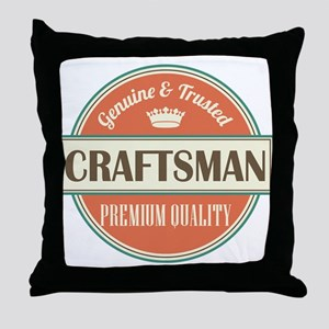 craftsman vintage logo Throw Pillow