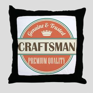 craftsman vintage logo Throw Pillow
