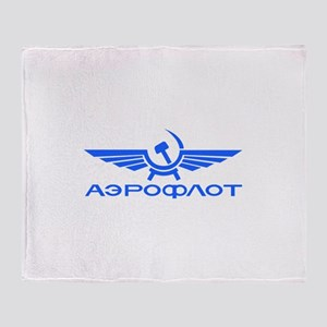 Aeroflot Russian Airlines Flights Throw Blanket