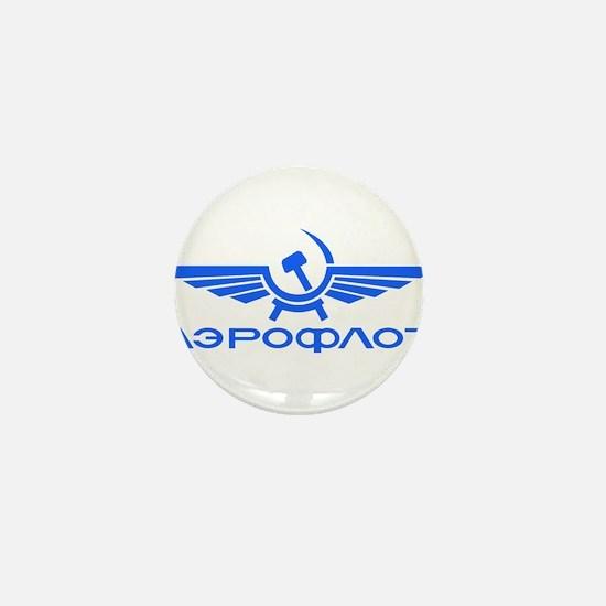 Aeroflot Russian Airlines Flights Mini Button