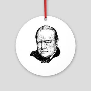 Sir Winston Leonard Spencer-Churchi Round Ornament