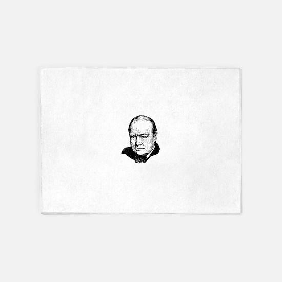 Sir Winston Leonard Spencer-Churchi 5'x7'Area Rug