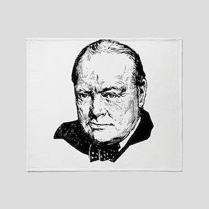 Sir Winston Leonard Spencer-Churchil Throw Blanket