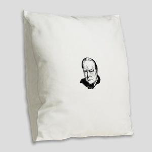 Sir Winston Leonard Spencer-Ch Burlap Throw Pillow