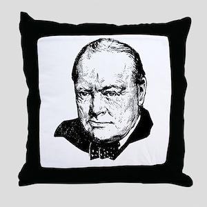 Sir Winston Leonard Spencer-Churchill Throw Pillow
