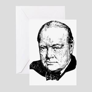 Sir Winston Leonard Spencer-Churchi Greeting Cards