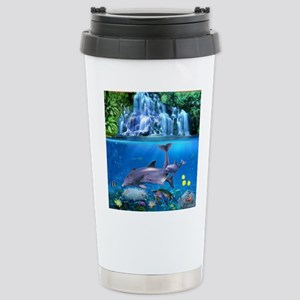 The Dolphin Family Travel Mug