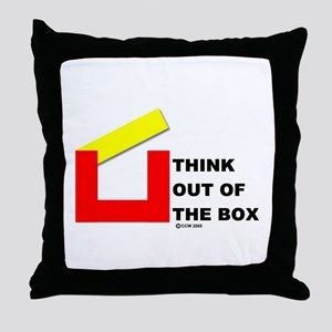 Think Out of The Box Throw Pillow