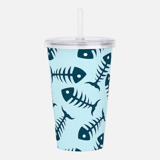 Fish Skeletons Acrylic Double-wall Tumbler